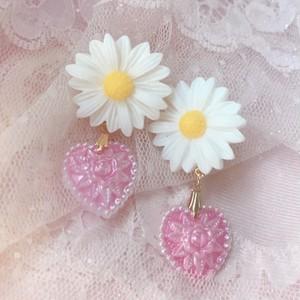 ♡ daisy × heart  pierce / earring ♡