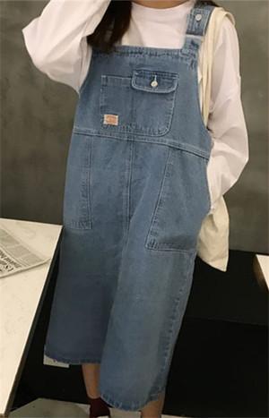 【dress】カジュアル無地デニムノースリーブロングカジュアルワンピース12927695