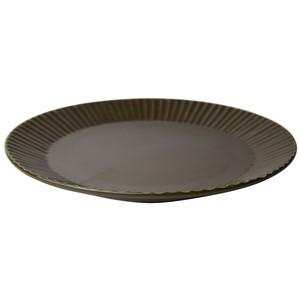 益子焼 つかもと窯 「 SHINOGI 」 プレート 皿 L ブラウン TS-01