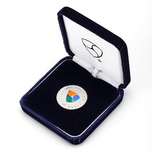 [限定]純銀XEMシルバー・七宝入り Pure Silver XEM Coin with Cloisonné