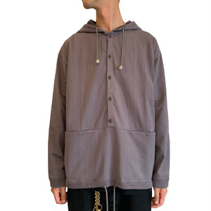 Button P/O hoodie <D,Gray>【Crepuscule】