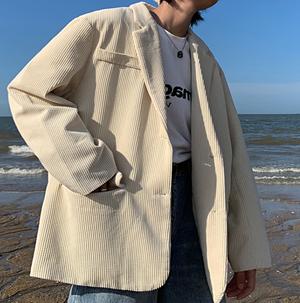 Basic over size jacket LD0310