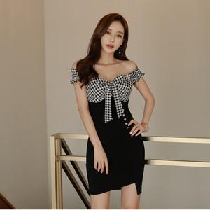 【ワンピース】韓国風ファッション気質良い切り替え着瘦せセクシーワンピース