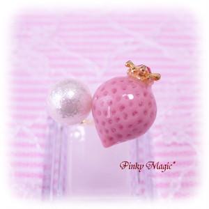 マジカルストロベリーフォークリング*Pink×シャイニーパール
