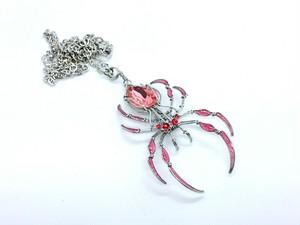 蜘蛛 スワロフスキー ネックレス