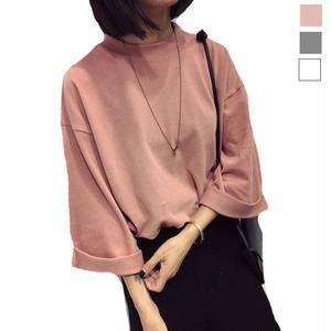 予約 レディースファッション Tシャツ ロールアップ 半袖 f1003
