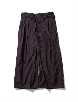 NYLON HAKAMA PANTS -BLACK BERRY- / Sasquatchfabrix.