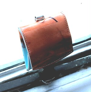 竹林のレザーコインケース