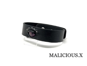 cat eye belt choker / smoke pink