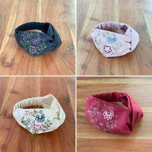 キット:布の色が選べる、刺繍のターバン