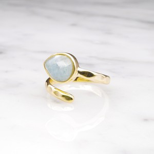 SINGLE STONE OPEN RING GOLD 025