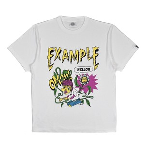 CRAZY EXAMPLY FLOWER TEE /WHITE