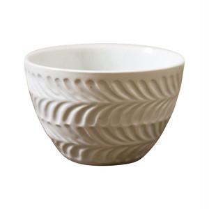波佐見焼 翔芳窯 ローズマリー ライスボウル 茶碗 約11cm マットホワイト 33411