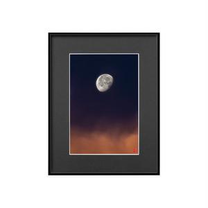 朝焼けの月(ブラックボード)A4サイズ