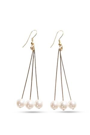 Triple Swarovski Pearl Earrings | GOLD