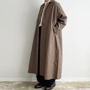 【HARVESTY】 WOOL TWEED OVER COAT (CAMEL , CHARCOAL) ウールオーバーコート