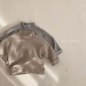 『翌朝発送』border high-neck T-shirt〈BELLA BAMBINA〉【baby】
