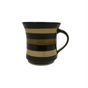 小石原焼 手付きマグカップ 茶ベージュ トビ 鶴見窯