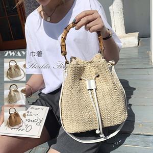 【即納】巾着かごバッグ トートバッグ|fa2084