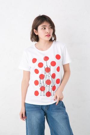 アラサー 水玉 プリント Tシャツ メンズ レディース お揃い ペアルック 半袖