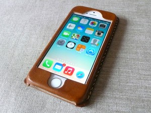 【受注制作】iPhoneケース《5/5S/SE専用》|ブラウン