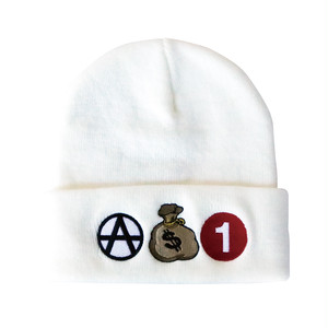"""ANDSUNS(アンドサンズ) """"ICONS BEANIE"""" [WHITE]"""