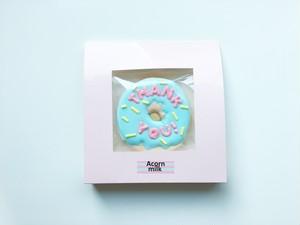 ドーナツクッキー(THANK YOU)水色×ピンク