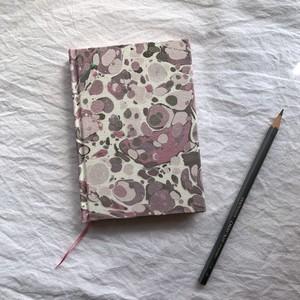 すずめや×mai marble.  マーブリング染布地のノート 01