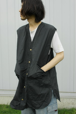 Over-Dyed Over-Size Vest