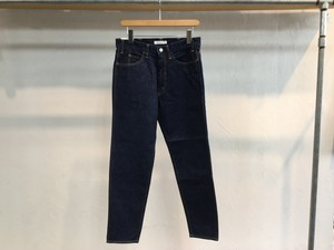 "LIVING CONCEPT ""5POCKET TAPERED DENIM PANTS.INDIGO ONE WASH"""