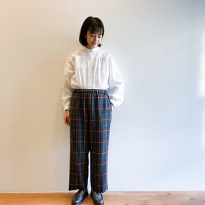 C-30352 Wool Tartan Tapered Pants