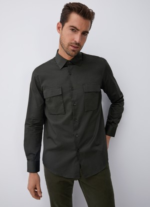 COTTON SHIRT WITHCHEST POCKETS