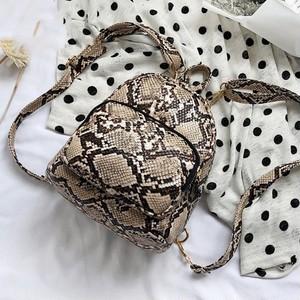 Serpentine Leather Backpack Small Bag Vintage Travel Shoulder Bag ショルダーバッグ レザー バックパック リュック ビンテージ (HF0-7084476)