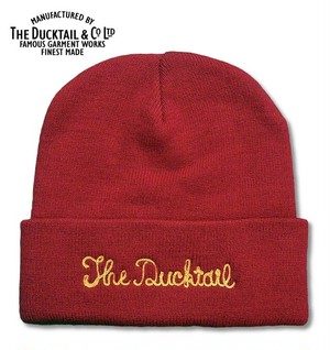 """DUCKTAIL CLOTHING """"NO NAME"""" RED ダックテイルクロージング ニットキャップ"""
