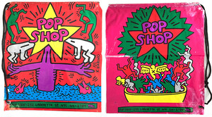 pop shop NYC 1986 plastic bag