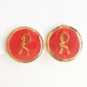"""Roberta"" red earring[e-1242] ヴィンテージイヤリング"