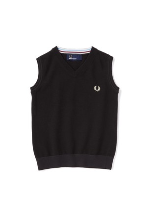 Kids FRED PERRY Tipped Tank ( ブラック カラー ) キッズ フレッドペリー ベスト
