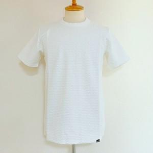 New Blister Jacquard Crewneck T-shirts White