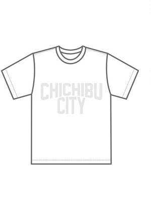 CHICHIBU CITY White×White T-shirt