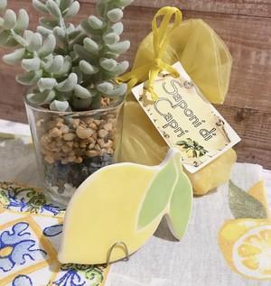 スペインタイル レモン ワイヤースタンド付き
