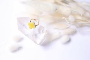 088-r 伝統文化品美濃焼多治見四つ葉タイル指輪・リング(フリーサイズ) ※証明書付