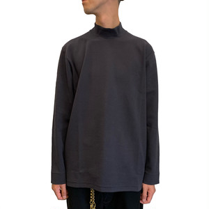 STATIC LS MOCK NECK <Charcoal> 【CURLY】