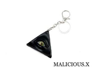 eye ring charm(black) / green