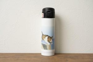 飛び猫ステンレスボトル(ワンプッシュボトル300ml)