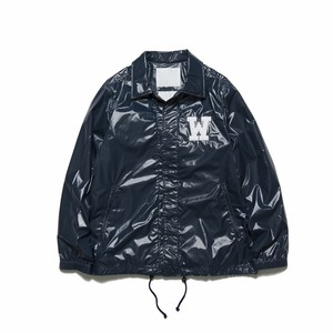 CORTED NYLON COACH JACKET - NAVY