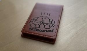 音速ラインのレザーメモ帳 温玉ちゃん ブラウン