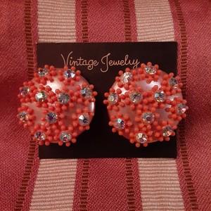 Vintage small  flowers bijou earrings フラワービジューイヤリング