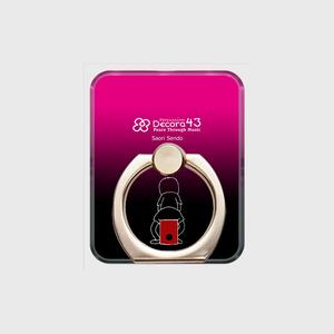 スマホリング black&pink