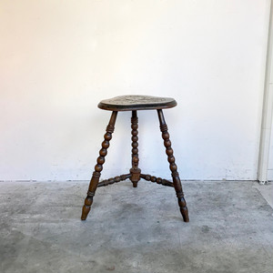 Oakwood Antique Side Table / Flower Stand 30's オランダ