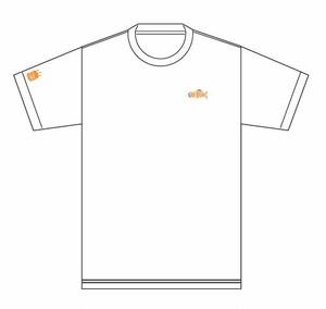 deli fu cious Tシャツ  WHITE X ORANGE XLサイズ